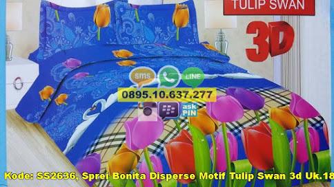 Sprei Bonita Disperse Motif Tulip Swan 3d Uk.180x2