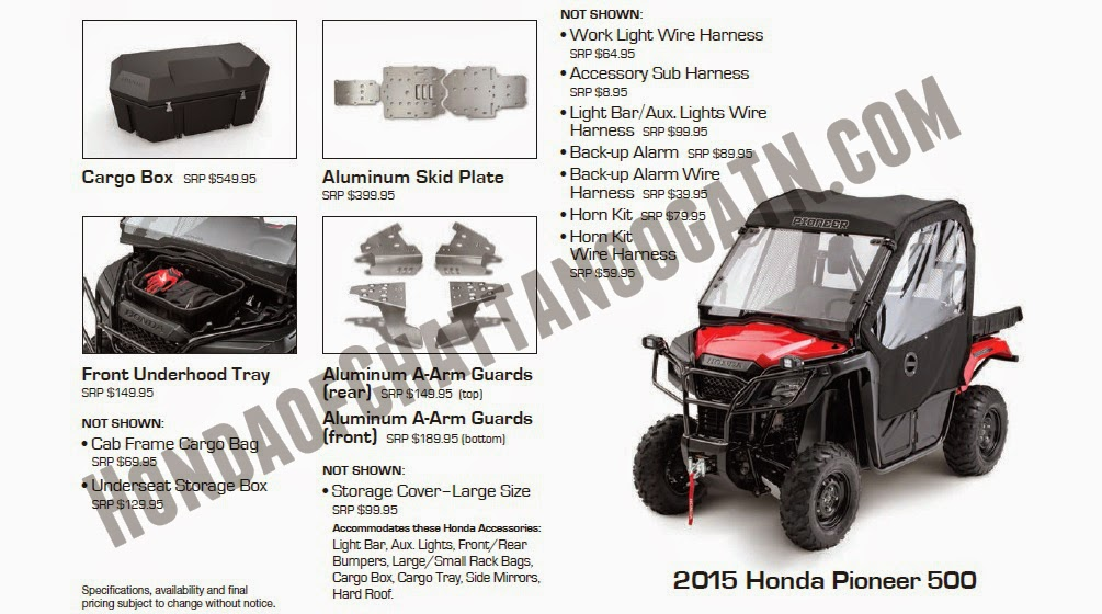 2015 pioneer 500 parts accessories utv side by side chattanooga tn ga al 2015 pioneer 500 honda of chattanooga  at fashall.co