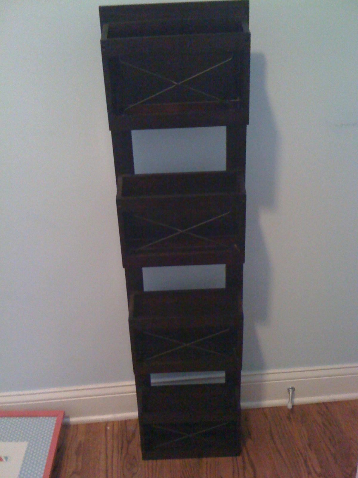 Diy project book rack design improvised for Diy book rack