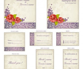 Design your wedding invitations with free download vector graphics design your wedding invitations with free download vector graphics stopboris Images