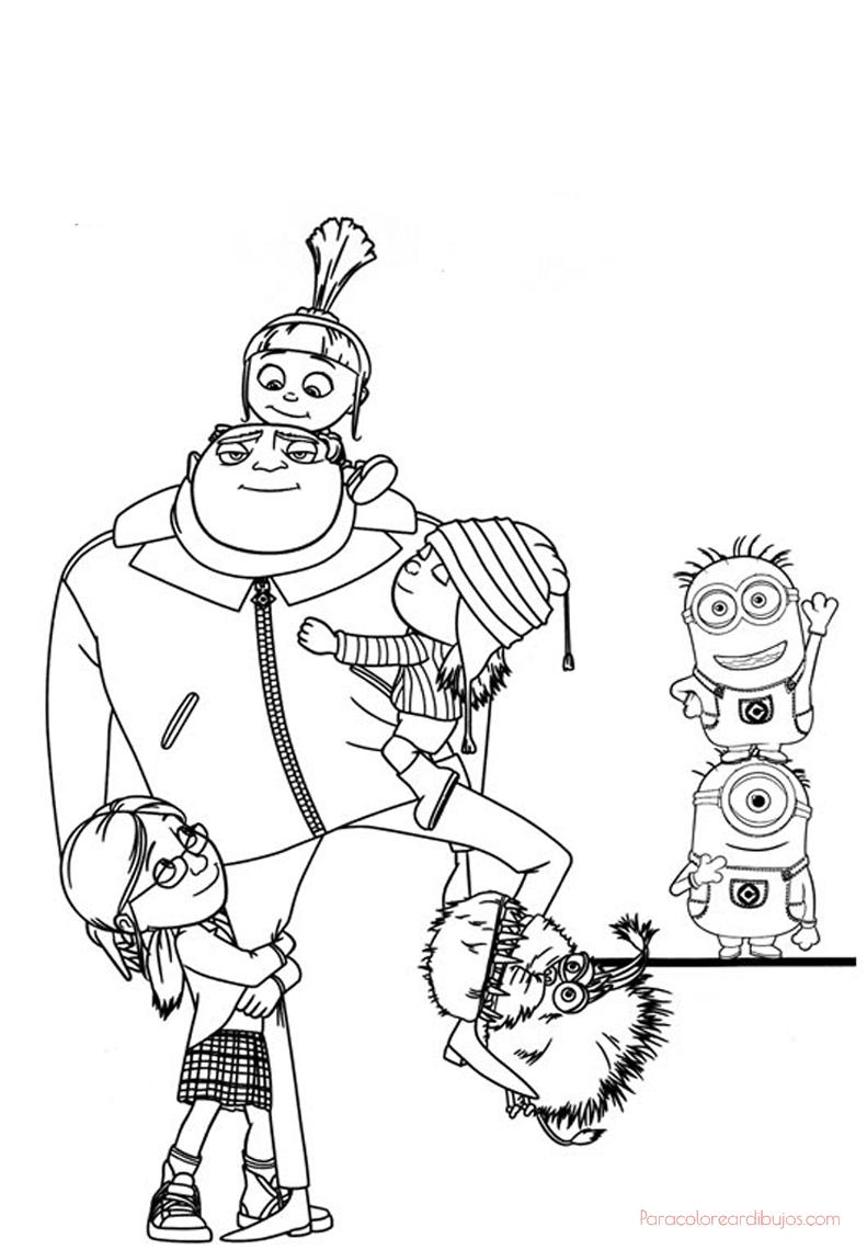 colorear los personajes de gru