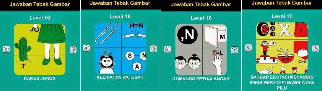 Jawaban Game Tebak Gambar Android Level 16 9-12