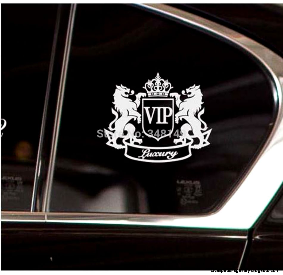 Car Accessories Luxury VIP Lion Reflective Car Sticker And Decal