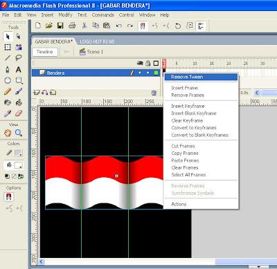 Membuat gambar animasi bendera bergerak GIF