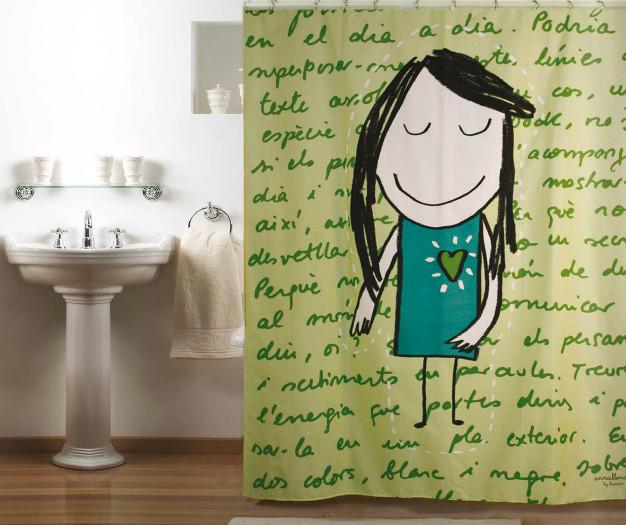 Cortina de baño de Ana Llenas