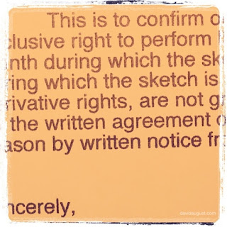 photo of part of a letter of agreement
