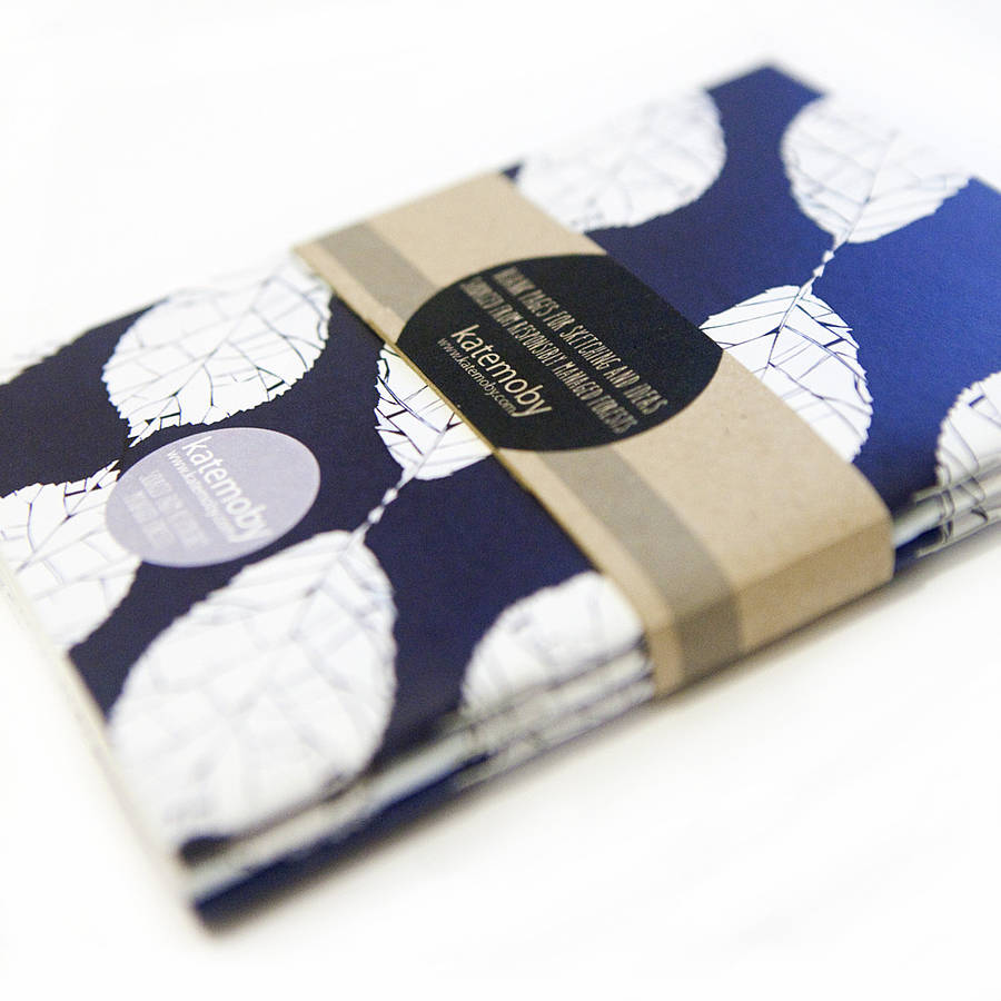 inky blue notebooks