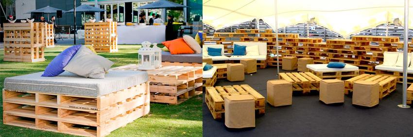 sofas y mesas - Mobiliario Con Palets