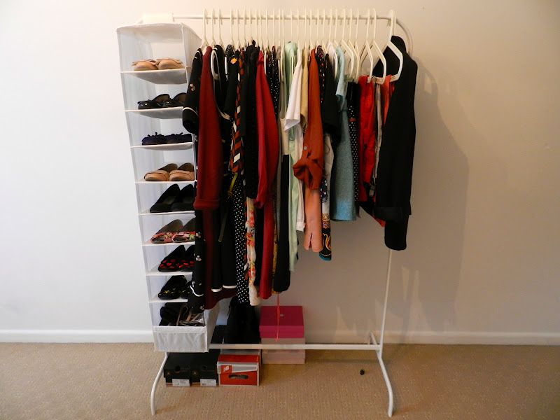 how to hang clothes without closet space frugal