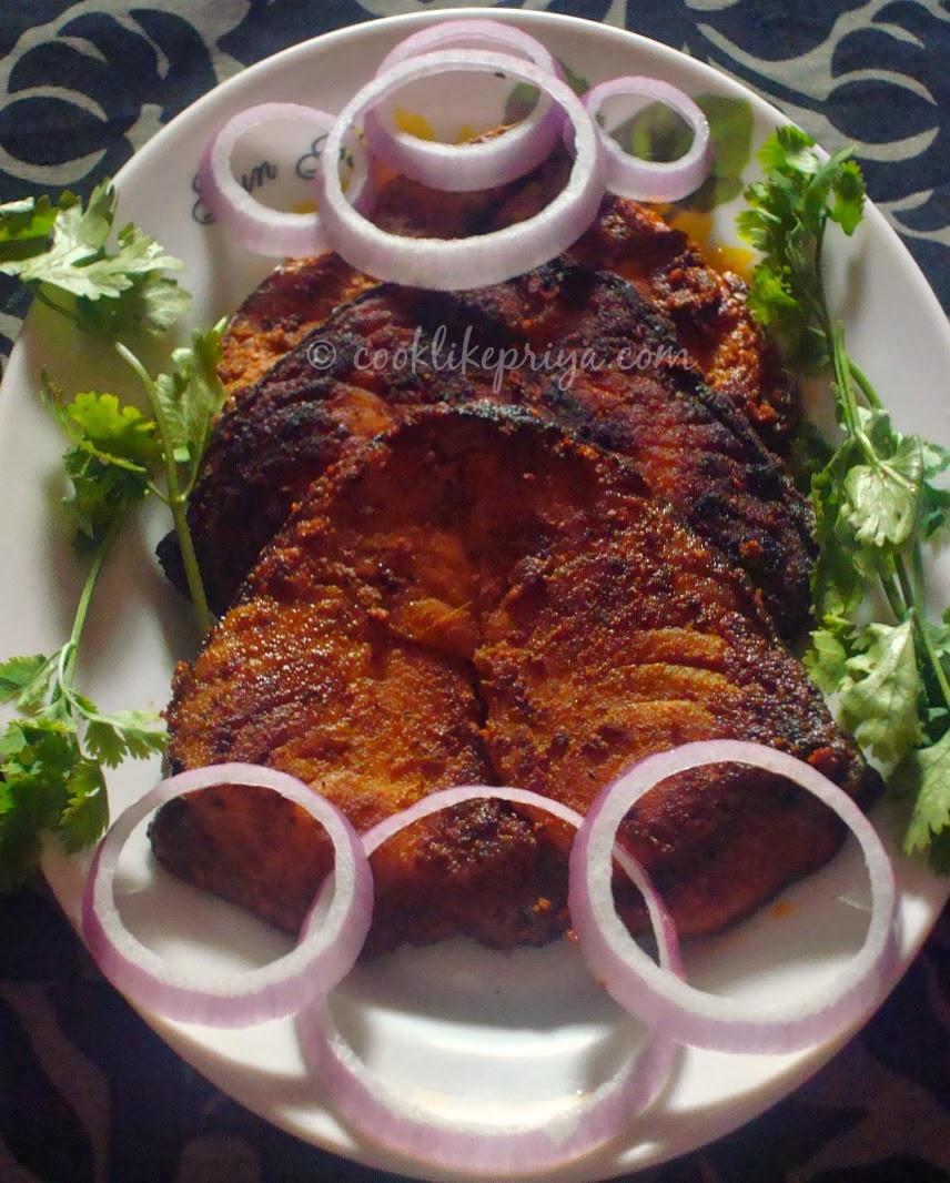 Cook like priya vanjaram meen varuval king fish fry recipe vanjaram meen varuval king fish fry recipe south indian fish fry recipe forumfinder Gallery