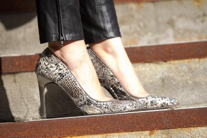 Zapatos piel pitón y tacón metálico Leather Stilettos byJoaquim Ferrer Colección zapatos blogger española adicta a los zapatos