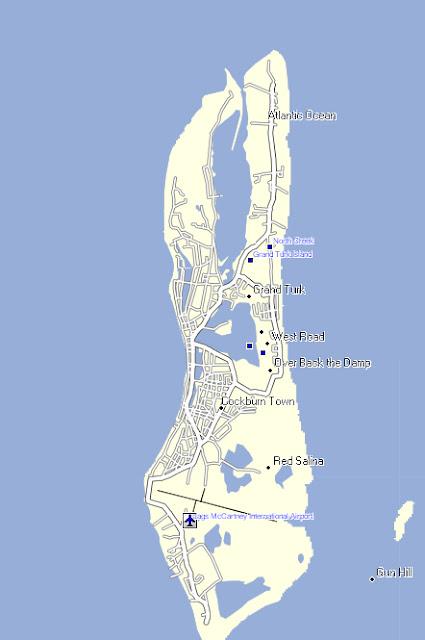 Turks Caicos Map