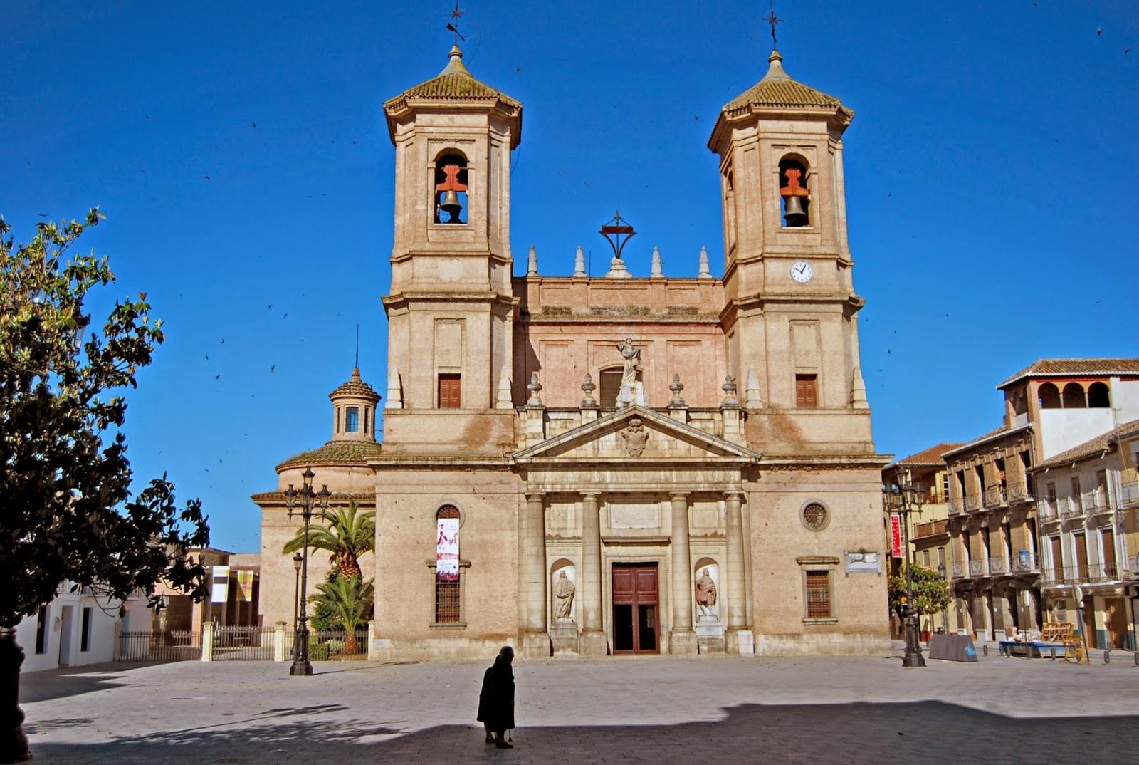 La Plaza de España en Santa Fe, Granada