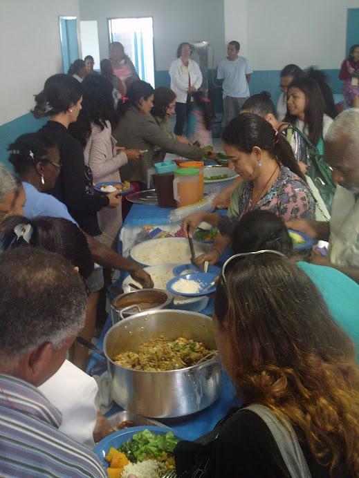 Almoço nutritivo durante II CMSAN de Conceição da Barra