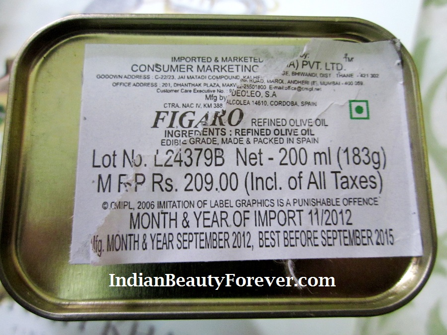 Figaro Olive oil Review and Beauty Benefits