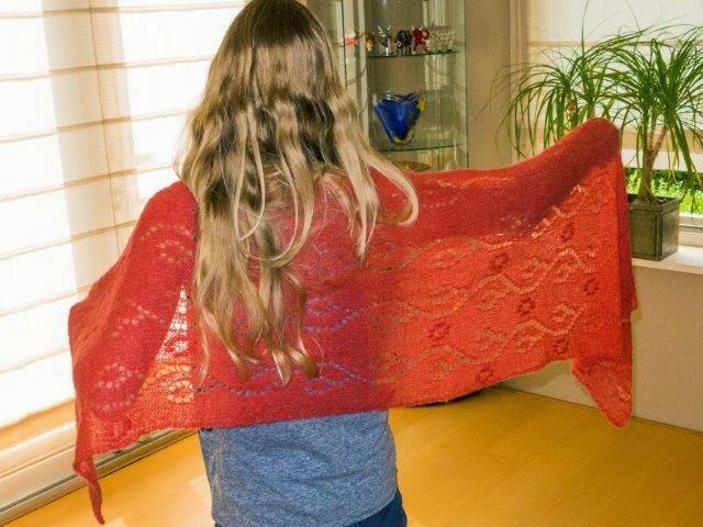 Alpaca wollen sjaal(verkocht)