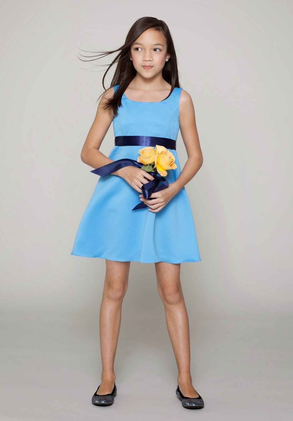Whiteazalea junior dresses satin scoop a line short junior bridesmaid dress ombrellifo Gallery