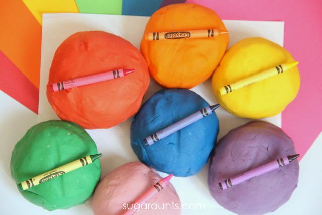 Crayon Play Dough Recipe - Sugar Ants