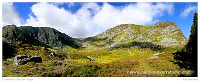 Glen Clova Angus Scotland Corrie Fee geological Hill walking heather Glen Doll landscape Hamilton Kerr scottish Kirriemuir