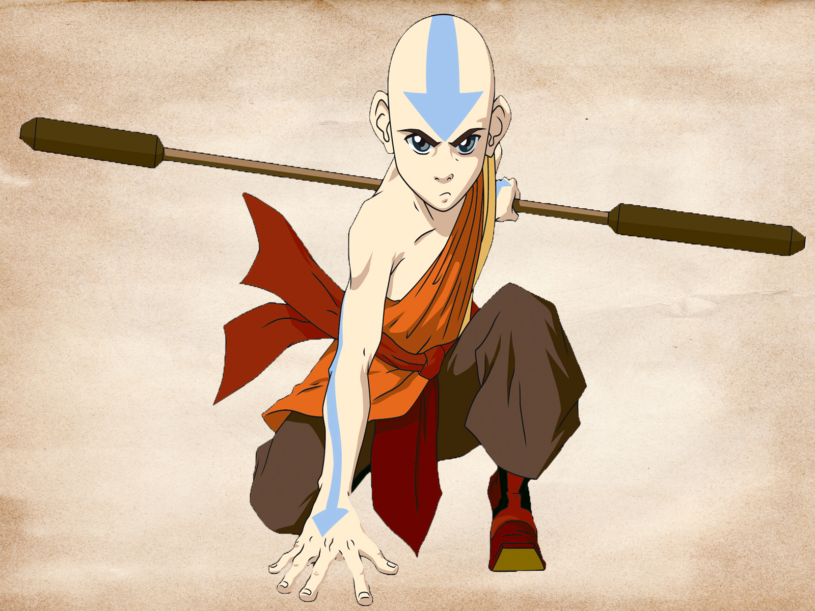 desktop wallpaper: aang avatar the last airbender hd anime wallpaper