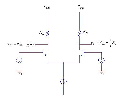 the mos differential pair