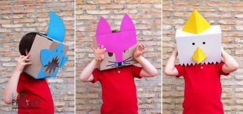 DIY Máscaras con cajas de cartón