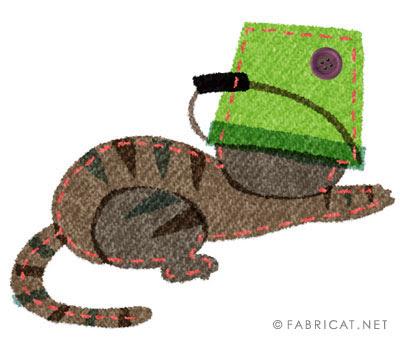 可愛いバケツをかぶる 猫のイラスト