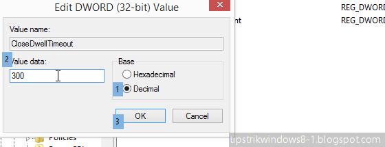 Cara Mempercepat Animasi saat Menutup Aplikasi Windows 8.1 4