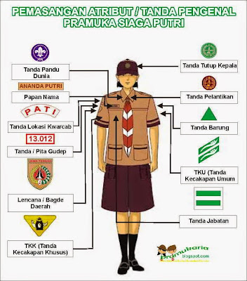 Pemasangan Atribut Pramuka Siaga Putri