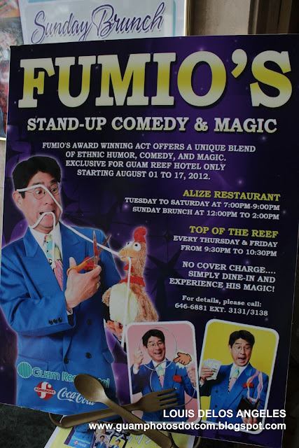 Mr. Fumio magic show at Guam Reef Hotel