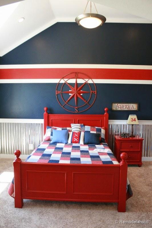 Gaya Nautical untuk kamar tidur anak laki-laki