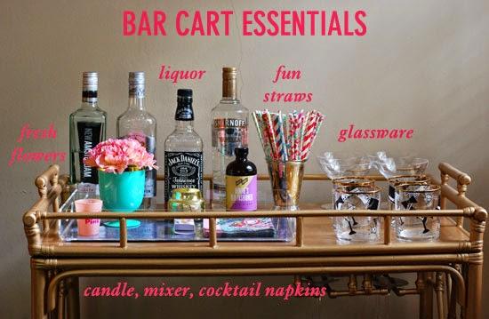 bar cart styling essentials