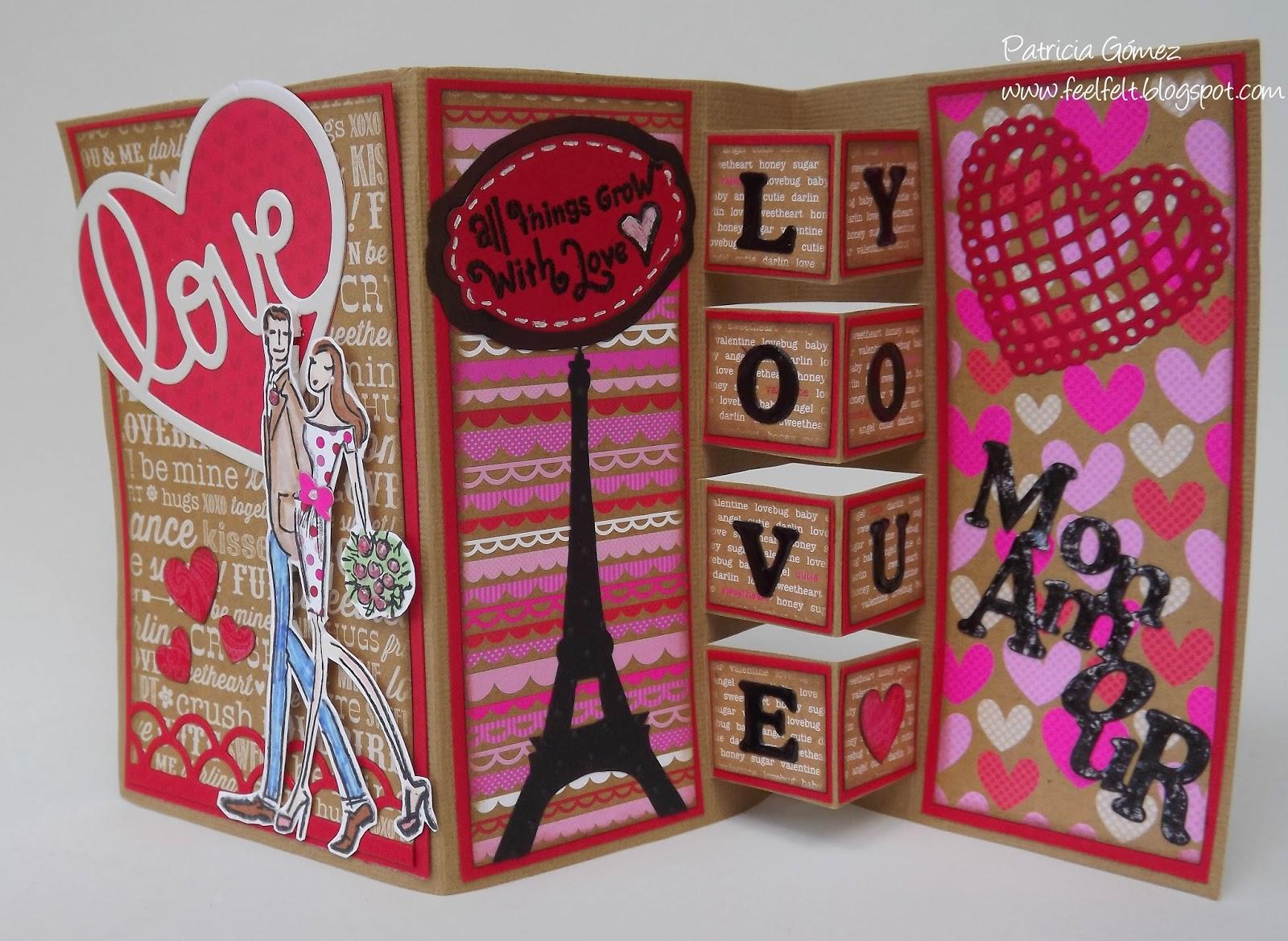 Feel felt san valentin building block card - Album para san valentin ...