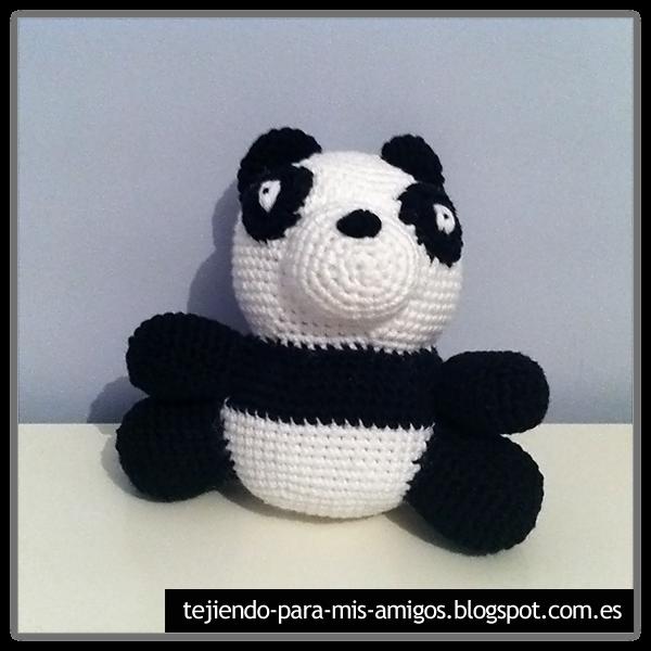 Tejiendo para mis Amigos: Oso Panda Amigurumi