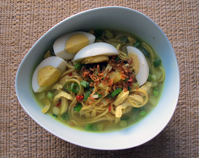 letter blocks say what?Recipe of the WeekMee Soto (Indonesian