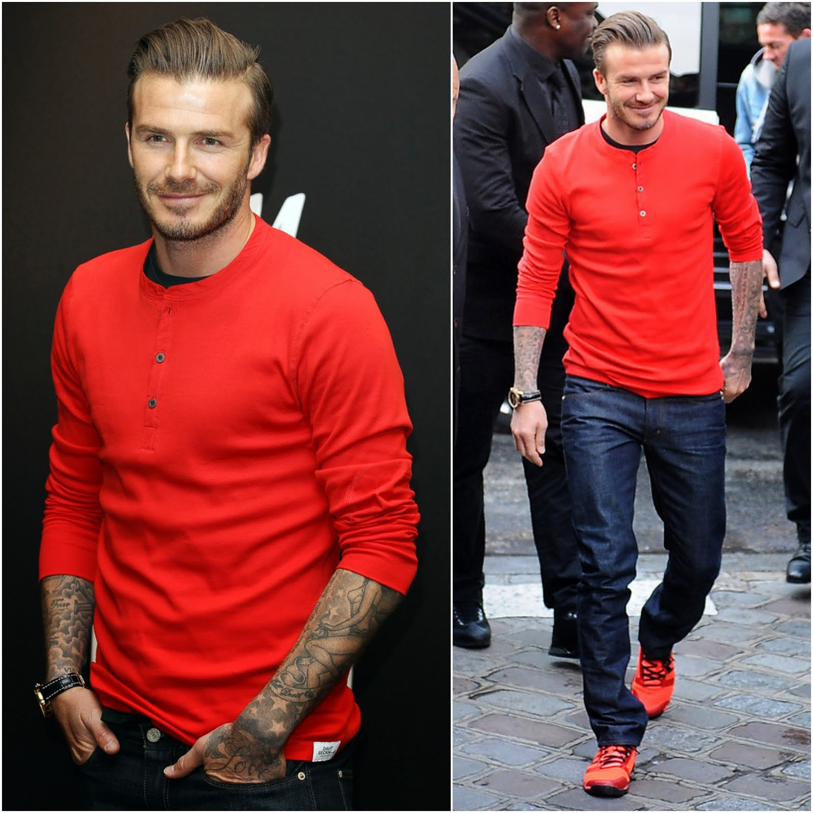 00O00 Menswear Blog: David Beckham in H&M - Paris store appearance