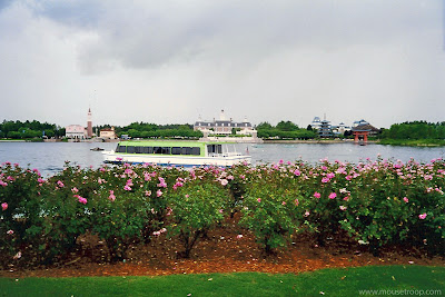 Epcot World Showcase Lagoon Friendship boat garden Disney