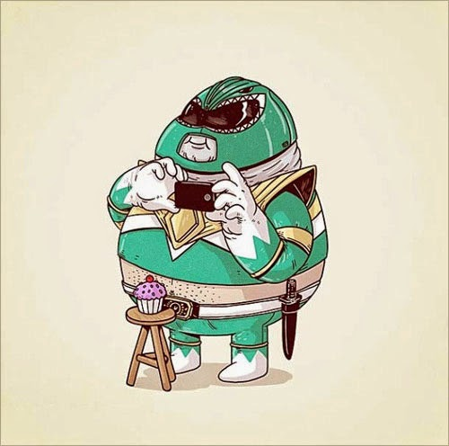 Fat Super Hero Gemuk - Fat Green Power Ranger