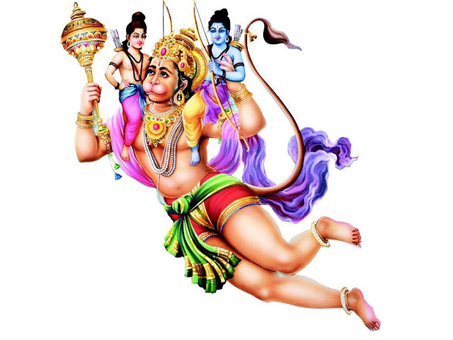 Ram & Laxman in Hanuman's Sholder