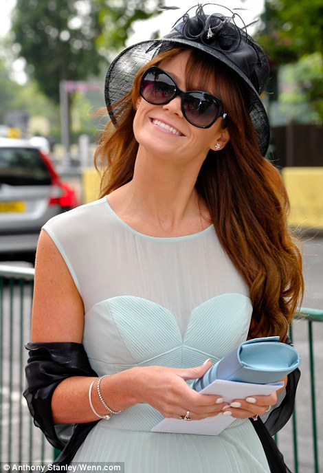 pretty mint and black outfit on Ladies' Day of Royal Ascot 2014