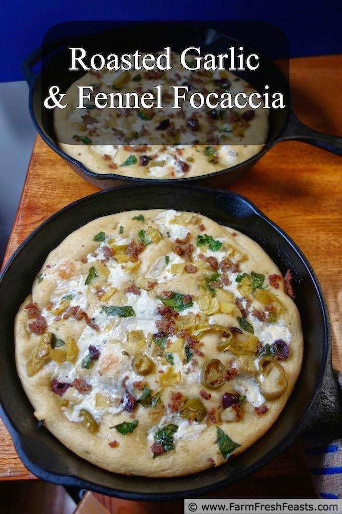 Roasted Garlic and Fennel Focaccia | Farm Fresh Feasts