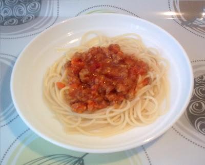 Espaguetis Boloñesa Vegana