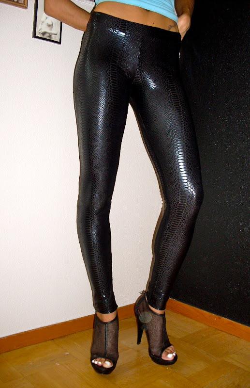 black snake print leggings by Lena Quist