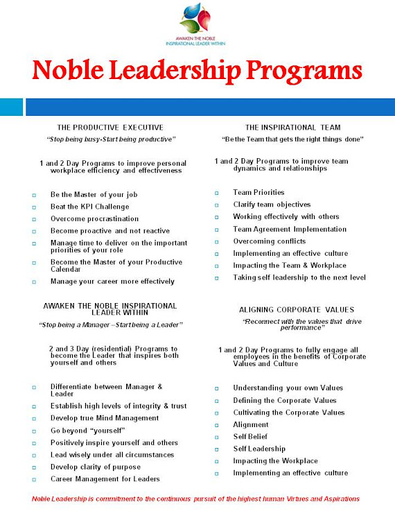 Noble Leadership Program Guide