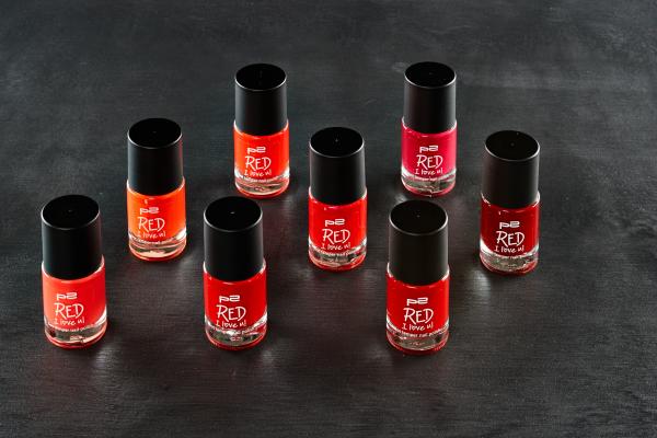 p2 Red I love u hot temper nail polish