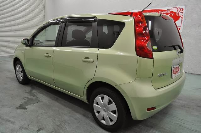 2007 March Nissan Note Green For Kenya To Mombasa Ref No 19509a8n5 Japanese Vehicles To The World