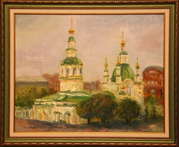 Красноярск покровский собор живописная картина маслом