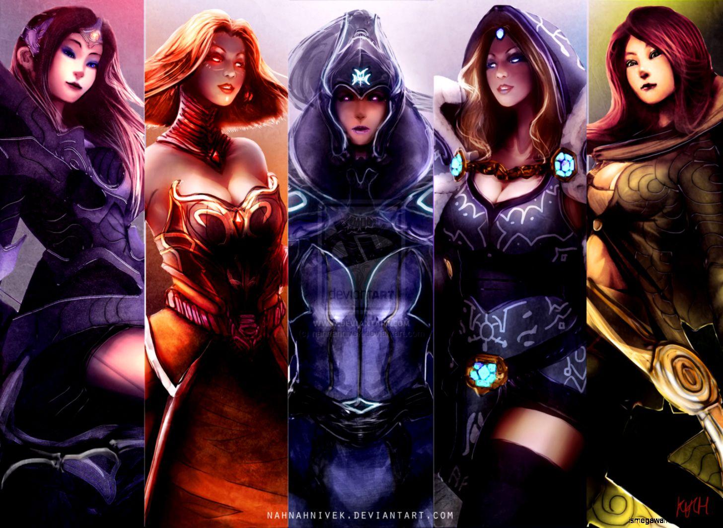 Dota 2 Girls Hero Wallpaper