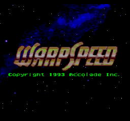 WarpSpeed Sega Mega Drive Genesis title screen