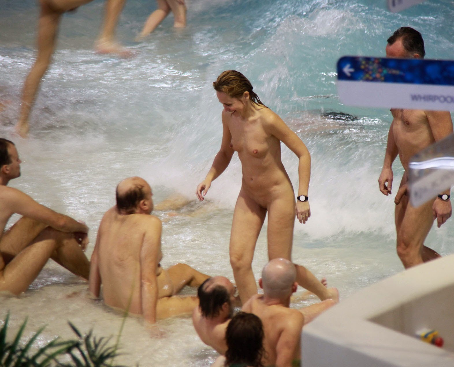 Rare good Family nudism pool necessary words